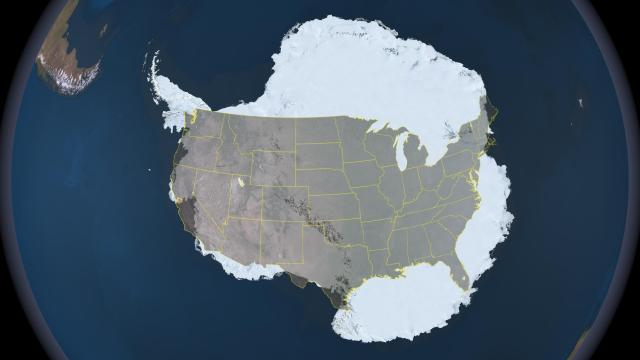 Antarctica is about a third larger than the United States (image credit: nasa.gov).
